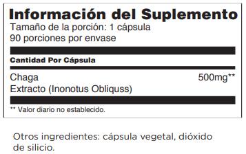 Informacion Del Suplemento Chaga